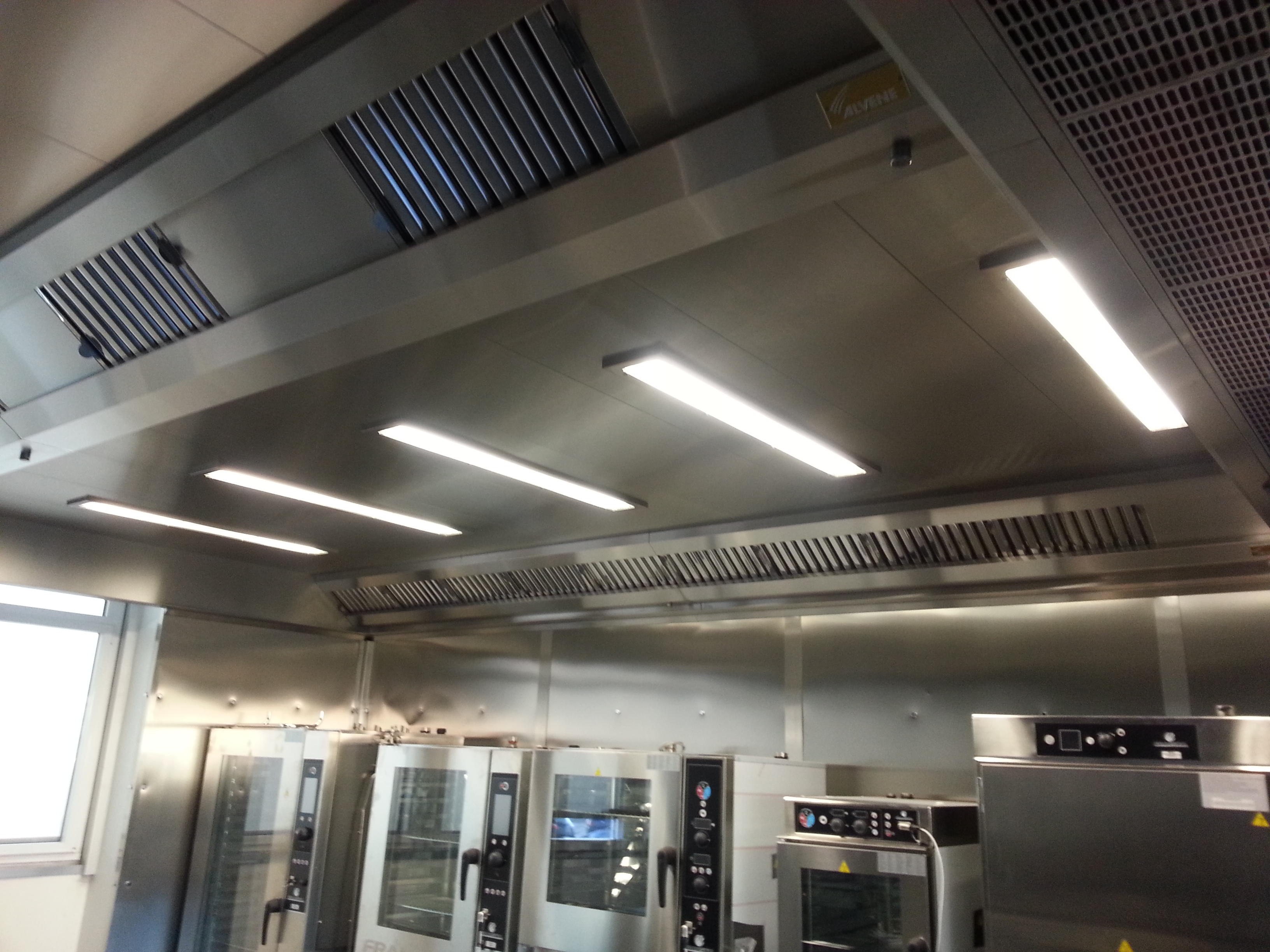 systeme d'extraction a plafond filtrant - cuisines professionnelles